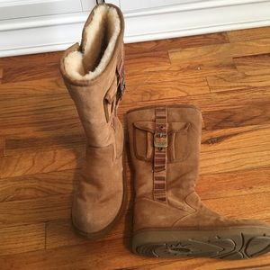 Adorable Ugg boots with buckle on the side!